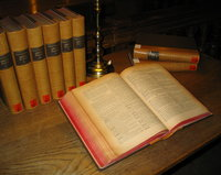 Leather bound books, 1887. Photo: en.wikipedia.org