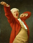 Self-portrait of Joseph Ducreux yawning and stretching. Photo: wikipedia.org